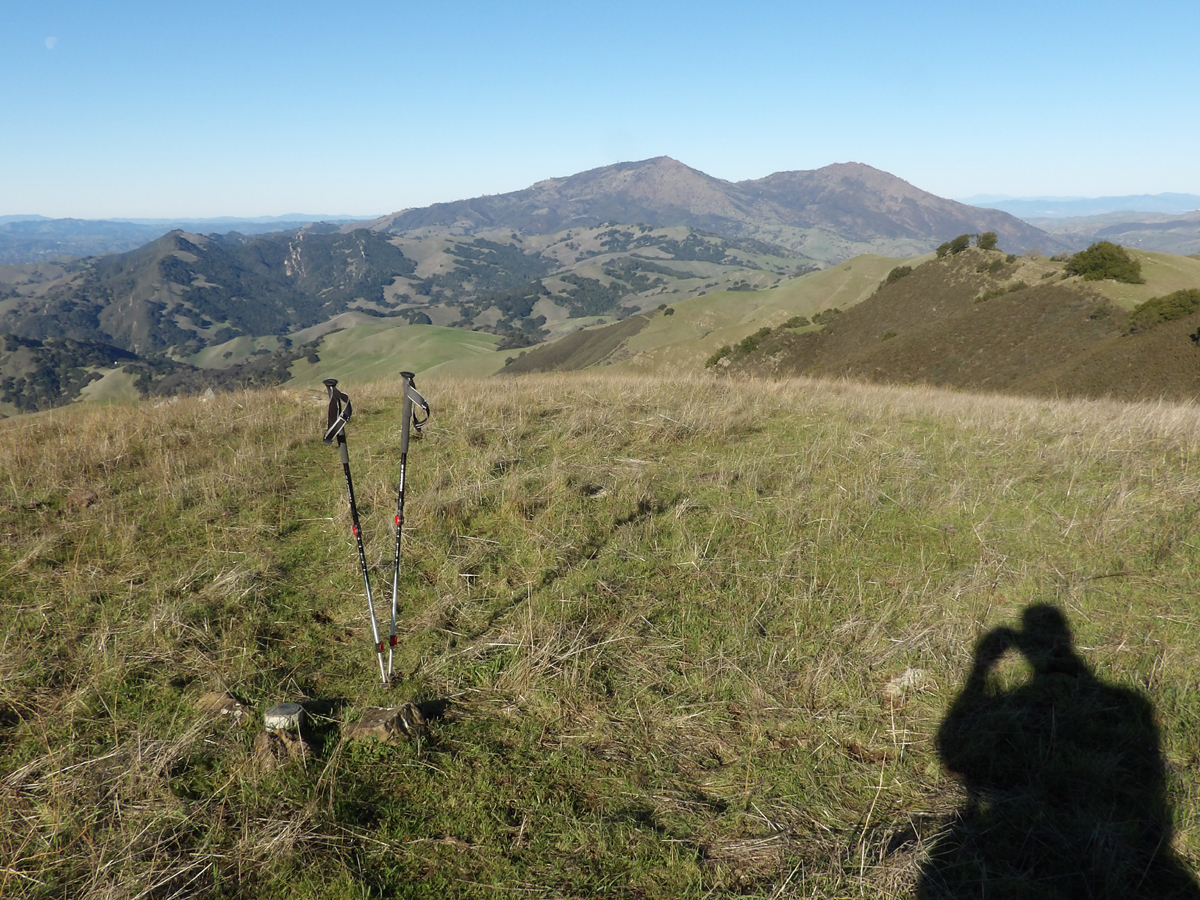 Mount Diablo and North Peak from the Summit of Marsh Benchmark